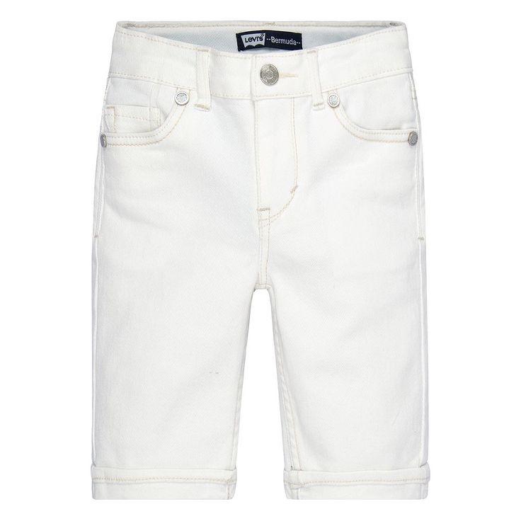 Girls 4-6x Levi's Stretch Denim Bermuda Shorts, Size: 6X, White