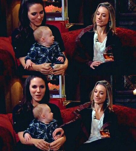 Anna Silk, her son Sam, and Zoie Palmer, Season 4 pre-show for Lost Girl