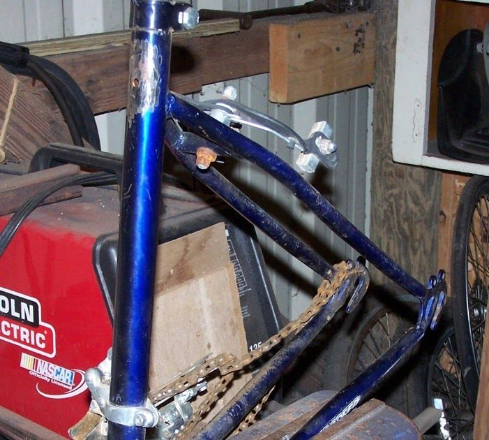 Needing a rear section, I cut this out of a cheap mountain bike. I think that I will use it at about this angle. My concern is the angle of...