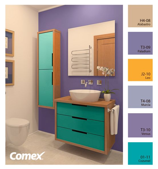 Un ba o lleno de vida comex m xico decoraci n for Colores para casa interior