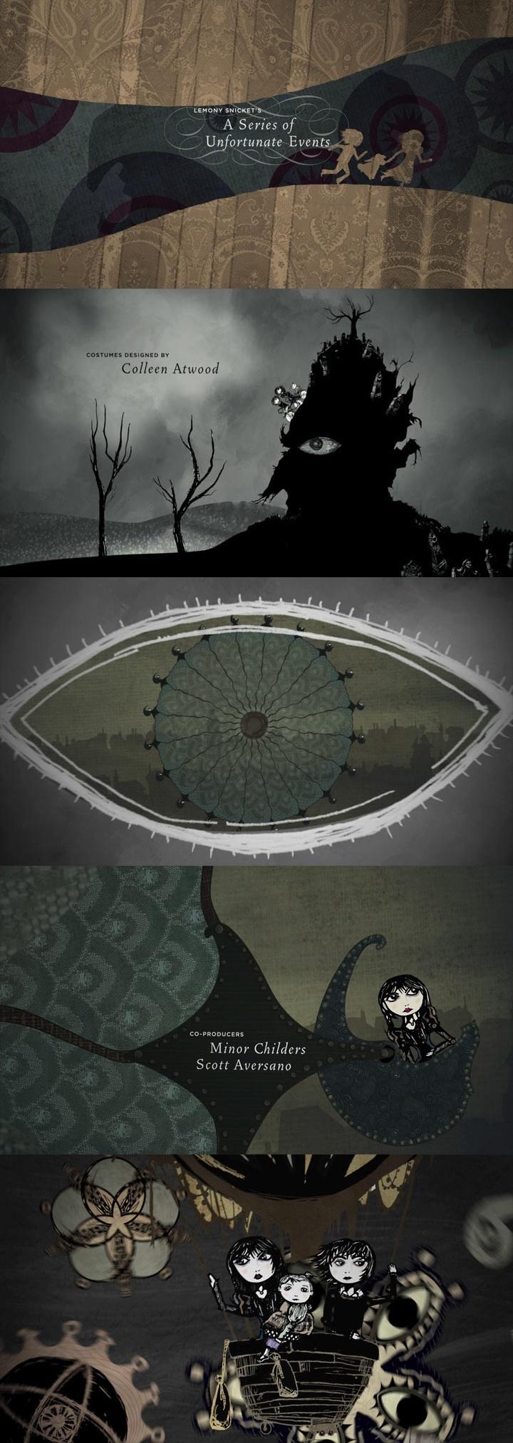 Lemony Snicket's A Series Of Unfortunate Events  End Credits  Designer:  Jamie Caliri