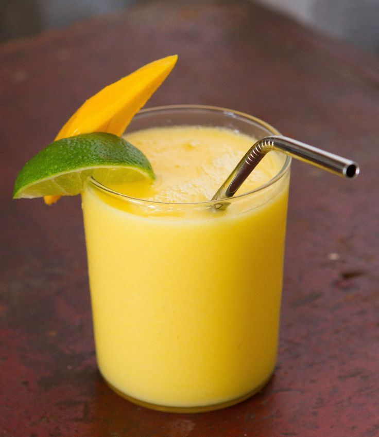 I once went to the Caribbean and actually got sick of Piña Coladas. It happens to the best of us. Midway through the vacation, I asked my bartender to switch it up a bit and it turns out that the same drink made with mango is just as good, if not better. The bartender kept the pineapple slice garnish as a nostalgic nod to our journey together through a week of seaside cocktails.