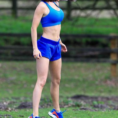 Jess Impiazzi Working Out in Surrey