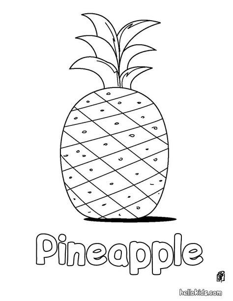 Pineapple Coloring Page Printable Pages Sheets For Kids Get The Latest Free Images Favorite To Print
