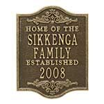 Buy Personalized Family Established House Plaque with 7 color options – Free personalization! See more Personalized House Plaques at PersonalizationMall.com