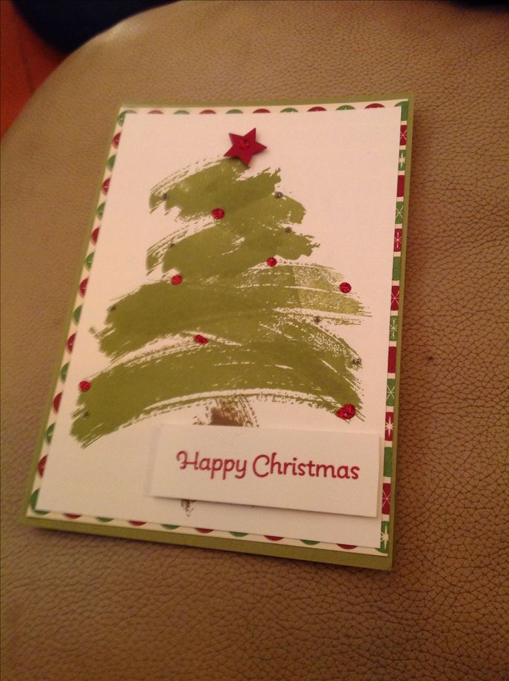 Christmas card using the Work of Art stamp set from Stampin' Up!