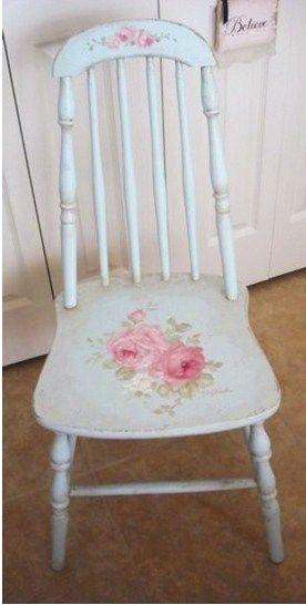 Shabby Chic ♥ Antique Cottage Rose Chair
