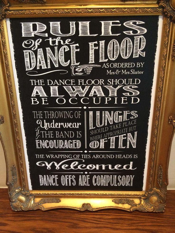 Rules of the Dancefloor!