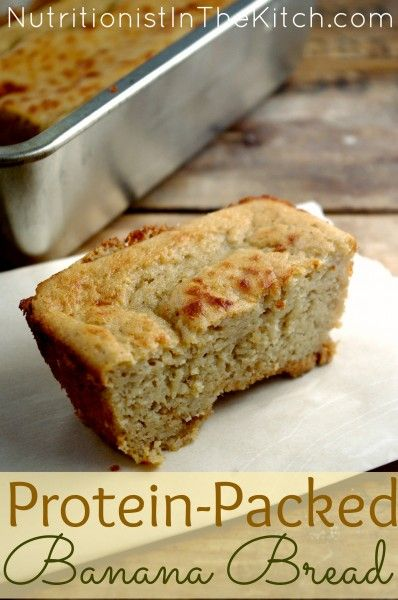 Protein-Packed Banana Bread (can be #gluten-free!) really easy and yummy!