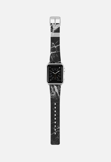 Casetify Apple Watch Band (38mm) {{case}} - black marble by Andriy #Casetify