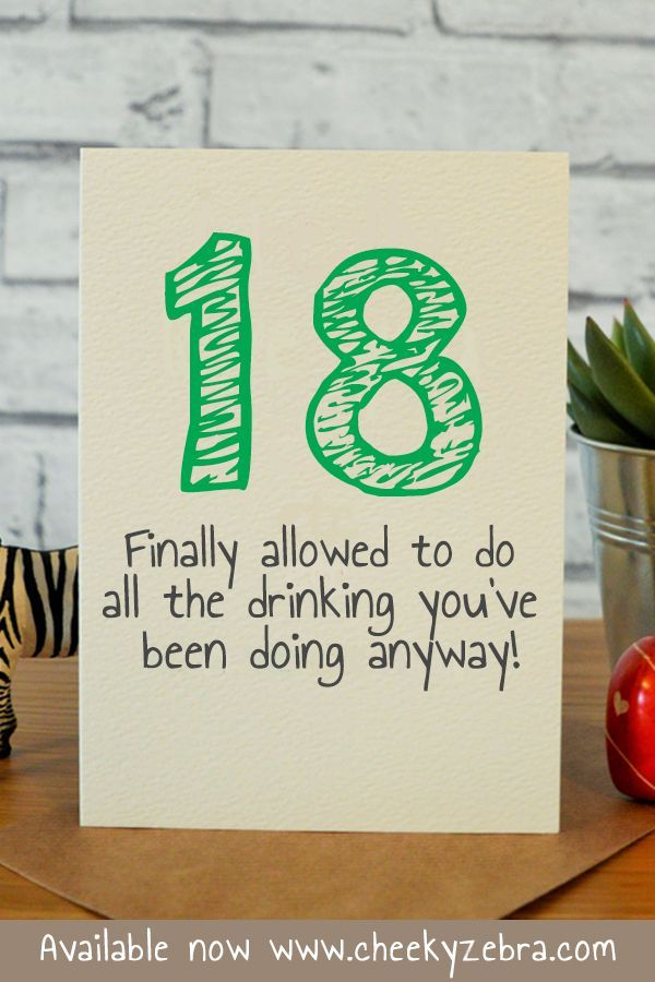 Funny 18th Birthday Card For Him Boyfriend Son Brother Or Friend This Is Available Now From Our Etsy Store CheekyZebraCardShop Main Website