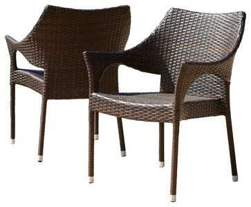 """Freda Wicker chair for Living room $200/2   Dimensions: 24""""D x 24""""W x 32.25""""H Seat height: 16.75"""" Arms height: 24.25"""""""