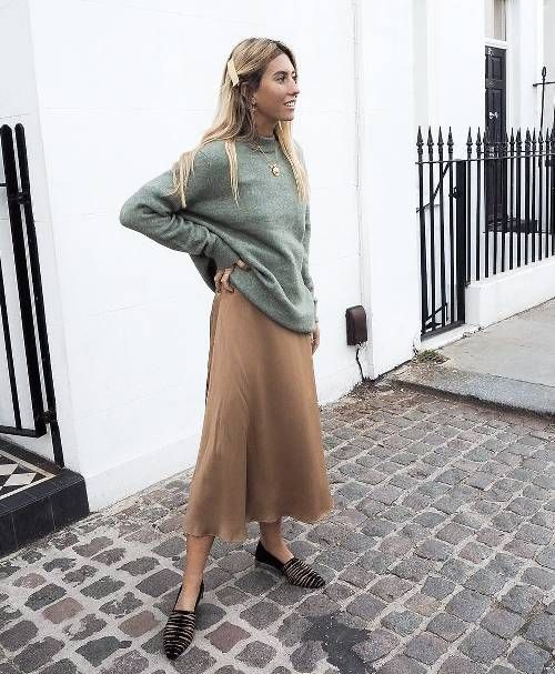 1a7fdce175170 street style_midi skirt - DIMANCHE Midi Skirt Outfit Casual, Slip Dress  Outfit, Winter Dress