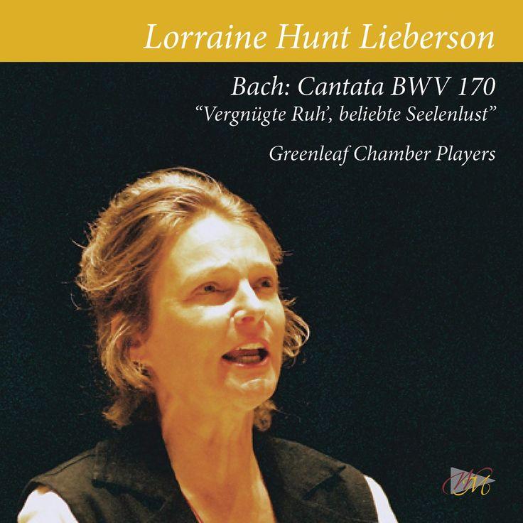 BACH: Cantata BWV 170 Lorraine Hunt Lieberson, mezzo-soprano. Greanleaf Chamber Players Album cover 14bestalbumseichler
