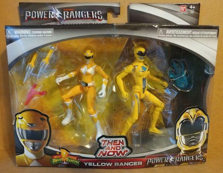 Power Rangers Then and Now Yellow Ranger Action Figures Set 2017 Bandai NEW  #Bandai
