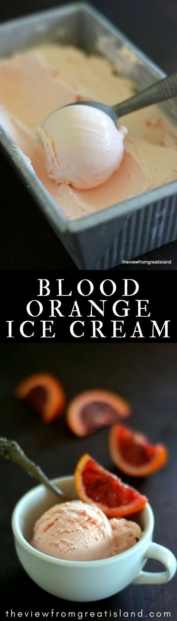 Blood Orange Ice Cream
