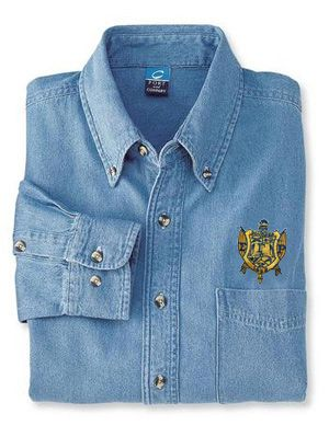 Sigma Gamma Rho Denim Shirt - Shield