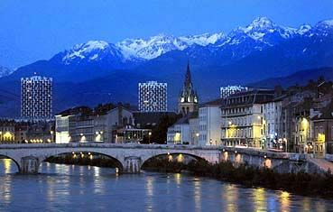 Grenoble, France. At the foot of The Alps in SouthEast France