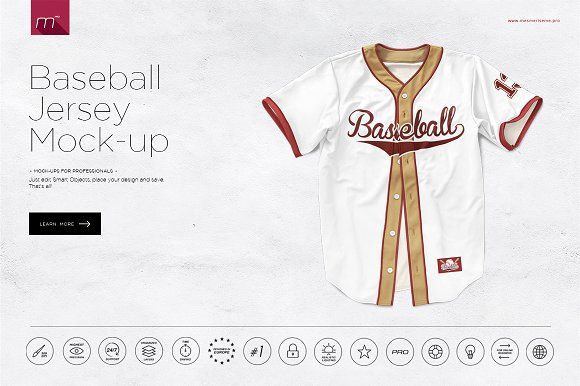 Baseball Jersey Mock-up by mesmeriseme.pro on @creativemarket