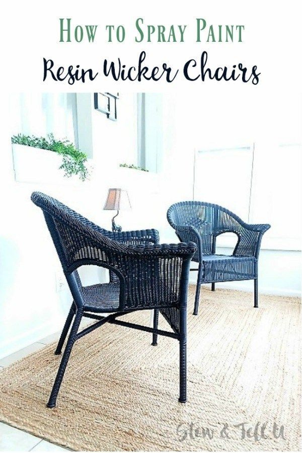 Black Wicker Chairs How To Spray Paint A Resin Chair Stowandtellu