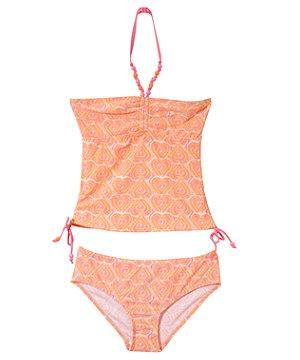 Pink (Pink) Teens Tie Dye Hearts Tankini | 240691570 | New Look