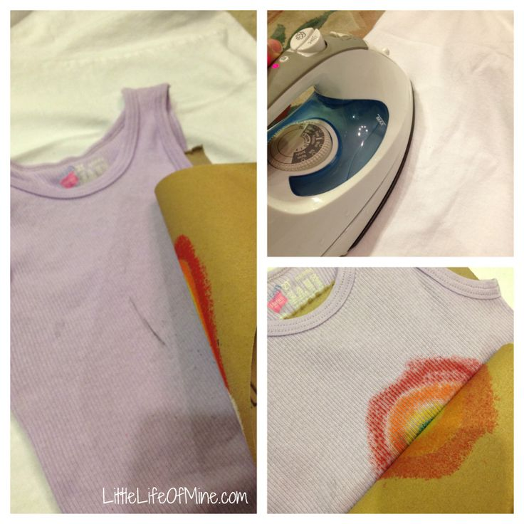 Design your own tshirt! crayon and sandpaper transfer = fun!