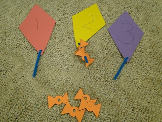 letter k activities...number on kite, add that many tails.