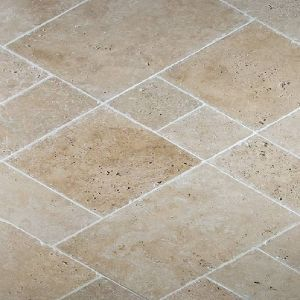 Opus romain en travertin bains douches pinterest for Carrelage opus romain