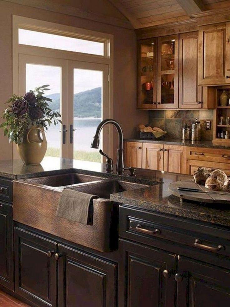 56 Farmhouse Kitchen Sink Ideas Affordable rustic