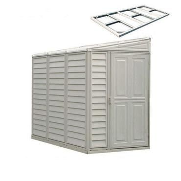 Purchase the Duramax Sidemate 4' x 8' Vinyl Storage Shed with Foundation at sheds.com