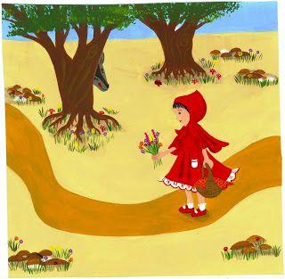Dafna Zayden: Illustration of Red Riding Hood