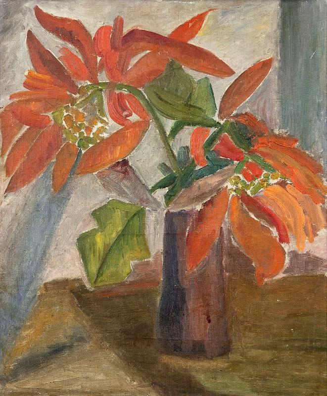 Vaso de Bico de Papagaio Anita Malfatti (Brasil,  1889-1964) (sem assinatura) 47 x 39 cm óleo sobre tela