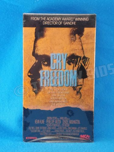 Cry-Freedom-VHS-Video-Tape-1988-Denzel-Washington-Kevin-Kline-New-Sealed