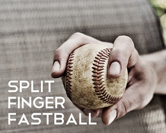 Split Finger Fastball Pitch Black & White Photo by honeyandfitz