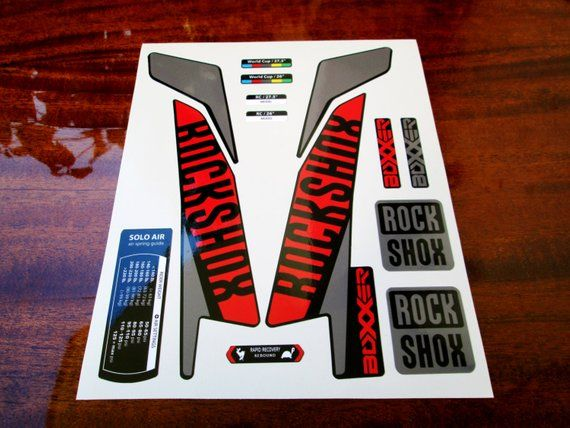 ROCK SHOX PIKE  FORK Stickers Decals Graphics Mountain Bike Down Hill MTB red