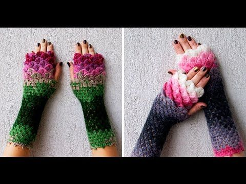 These Dragon Gloves With Crochet Scales Will Protect You When Winter Comes - YouTube