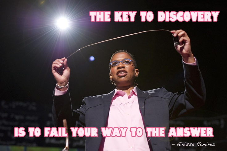 """""""The Key to Discovery is to Fail Your Way to the Answer."""" Ainissa Ramirez talks about science education at TED2012"""