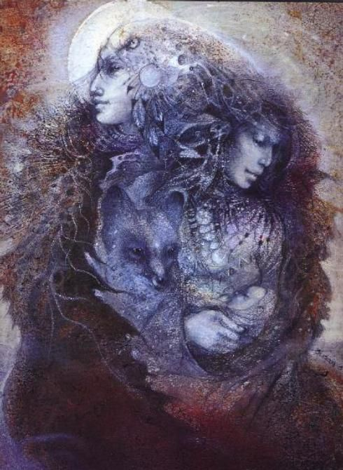 """Mother Earth Father Sky""   Susan Seddon Boulet (1941-1997) @ www.turningpointgallery.com  More Susan Boulet @ http://groups.google.com/group/FantasyMagie & http://groups.yahoo.com/group/fantasy_forum &   http://groups.yahoo.com/group/A1-Fantasy-Art   https://www.facebook.com/pages/Susan-Seddon-boulet/47280994189"