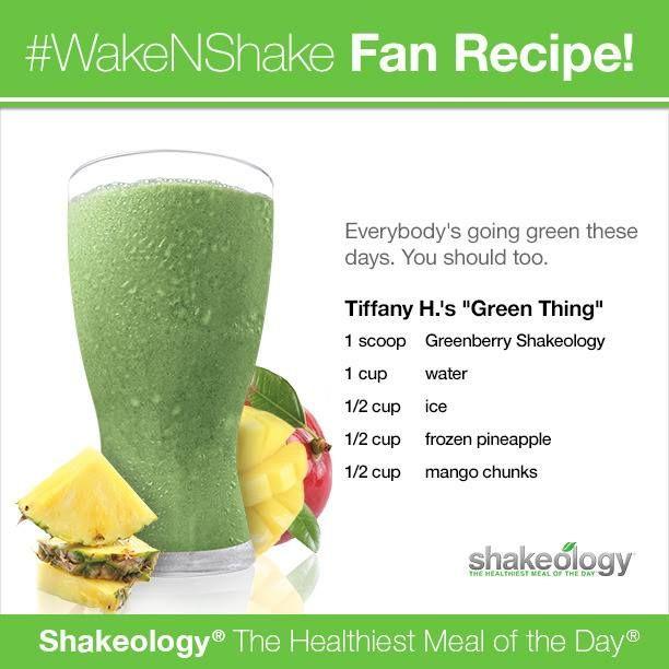 Greenberry Shakeology: Green Thing Recipe  www.beachbodycoach.com/jensasser