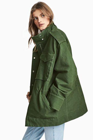 Giacca cargo - Verde kaki - DONNA | H&M IT 1