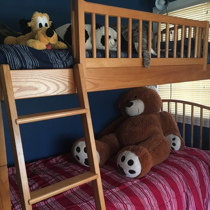 vermont tubbs solid wood bunk bed for sale. excellent