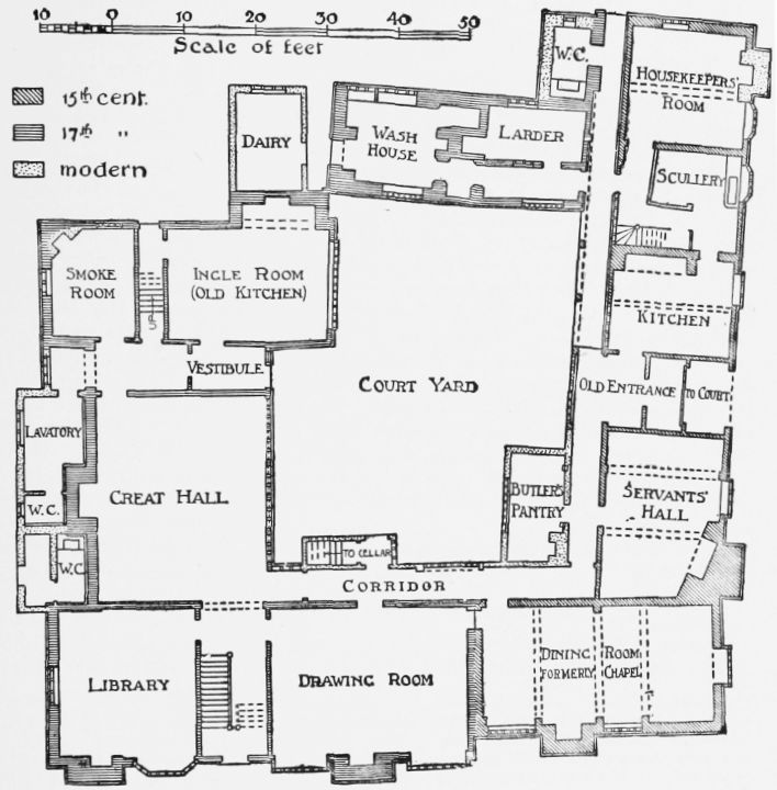 Elizabethan manor house floor plan for British home plans