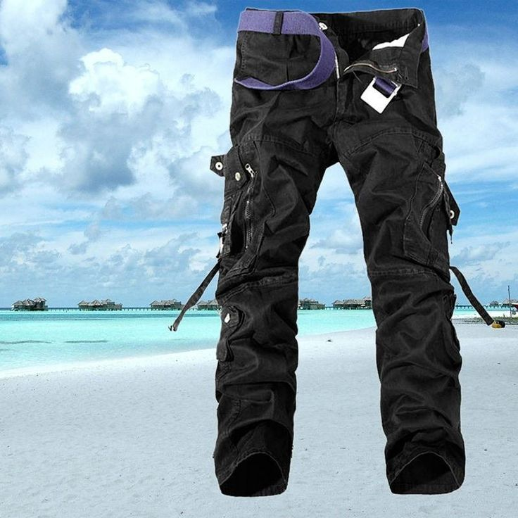 Mens Black Military Army Combat Pants Trousers Camping Hunting Sports - Gogobomo Gear - 1