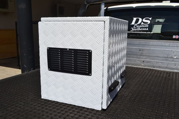 DS Custom Open Top Generator Box to suit Honda 2IU Generator. Powder coated to suit customers needs in Dulux colours. Available at DS Custom Toolboxes. 34 Lara Way Campbellfield 3061 Phone 03 9357 5003