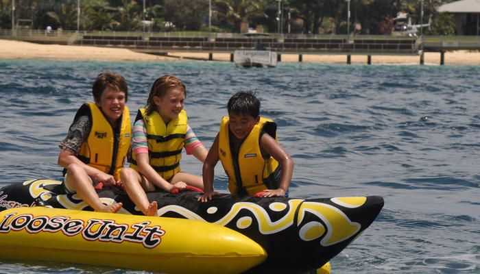 Tangatours: Banana Boat / Double Tube / Wake Board family friendly vacations. #kids #children #travel #ecotourism #Queensland #Australia