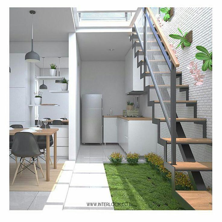 """1,014 Likes, 13 Comments - PAID PROMOTE 20K (@inspirasidesainrumah) on Instagram: """"Area belakang tempat dapur dan ruang makan serta ada open space ke atas. Mungkin untuk ruang cuci +…"""""""