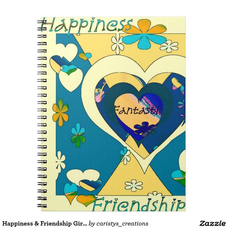 Happiness & Friendship Girls Journal Spiral Note Book