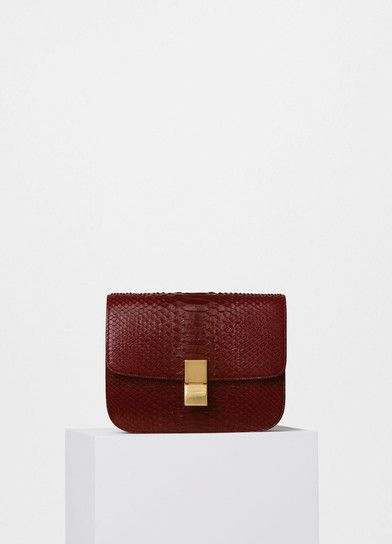 Small Classic Shoulder Bag in Burgundy Python - C��line | Handbags ...