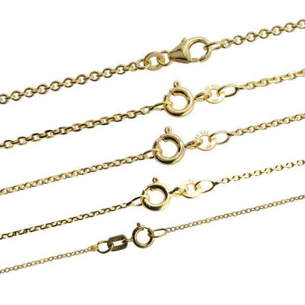 Massive edle Goldkette Ankerkette Halskette Collier Echt 333 - 8K Gold Auswahl