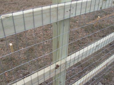 How to Build a Split Rail/Wire Mesh Fence -Keep Puppies In & Pests Out